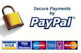 Secure payment by Paypal and all major credit cards